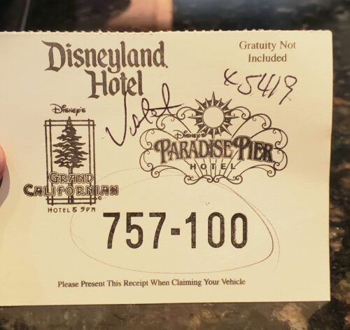 Disneyland Parking at the hotels