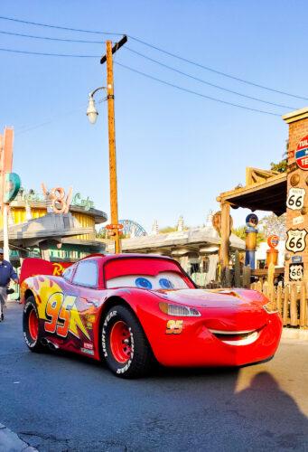 Lightning McQueen at Cars Land in California Adventure