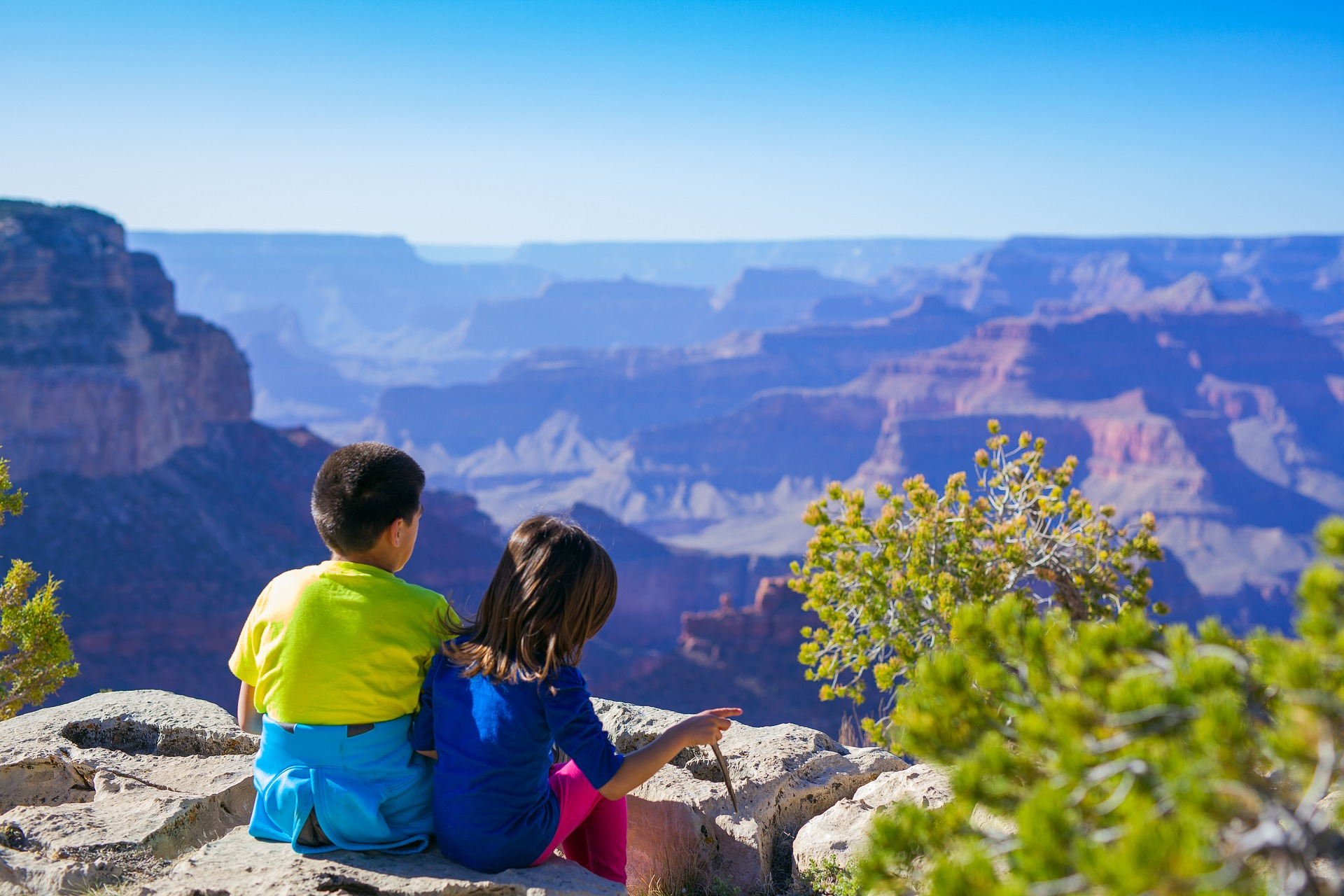 kids at Grand Canyon