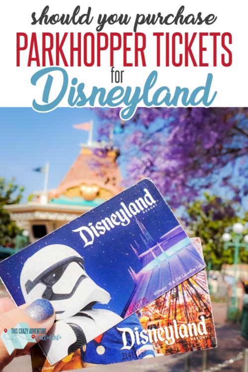 Disneyland parkhopper tickets