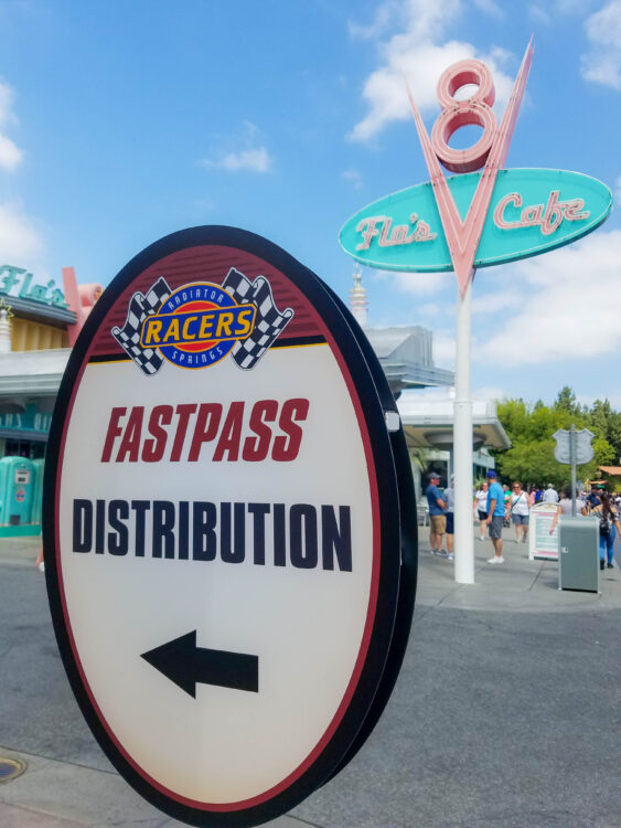fastpass sign at Disney California Adventure